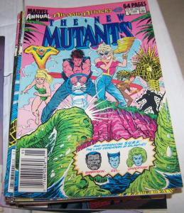 NEW MUTANTS ANNUAL # 5 marvel  X MEN ATLANTIS ATTACKS RICTOR BOOM BOOM WARLOCK