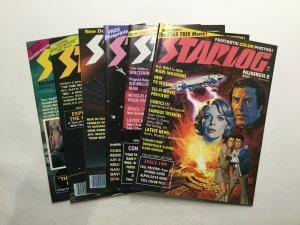 Starlog 2 3 7 12 13 15 Magazine Lot Fine Fn 6.0 Starlog Magazine
