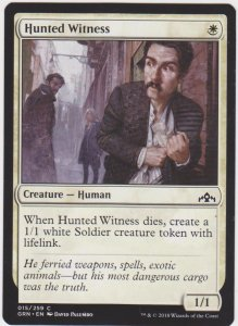Magic the Gathering: Guilds of Ravnica - Hunted Witness