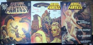 HEROIC FANTASY MAGAZINE #1-3 F-VF/+ FRAZETTA,KRENKEL,INGELS,WILLIAMSON,TARZAN
