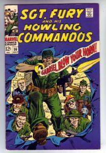Sgt. Fury and His Howling Commandos #56 (Jul-68) VF+ High-Grade Sgt. Fury, Ho...
