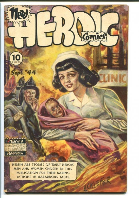HEROIC COMICS #44 1947-NURSE RESCUE CVR-ALEX TOTH VG/FN