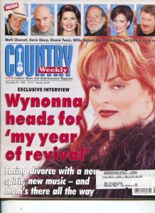 Country Weekly-Wynona-Mark Chestnut-Shania Twain-Willie Nelson-April-1999
