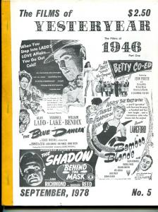 Films of Yesterday #5 9/1978-Films of 1946, part 1-VG/FN