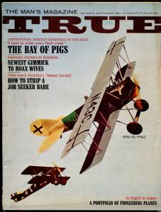 True 9/1964-Fawcett-Bay of Pigs-Mort Kunstler-Jimmy Hoffa-pulp thrills-VG