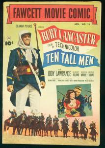 FAWCETT MOVIE COMIC-TEN TALL MEN-BURT LANCASTER-1952 VF