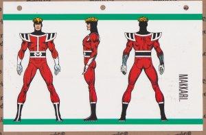 Official Handbook of the Marvel Universe Sheet- Makkari
