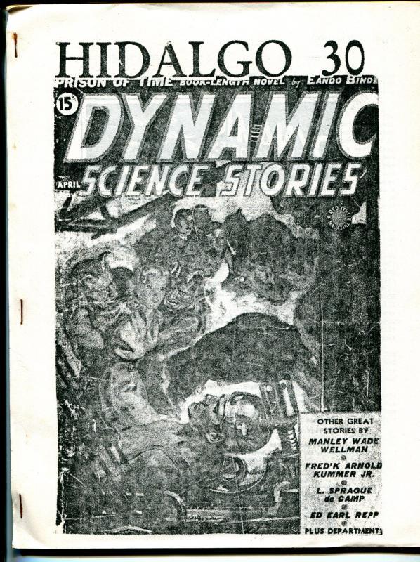 Hidalgo 30 1994-pulp fanzine-Dynamic Science Stories index-Weird Tales-FN