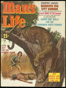 MAN'S LIFE PULP JULY 1961-BLOODY LEOPARD ATTACK-HEROIN VG
