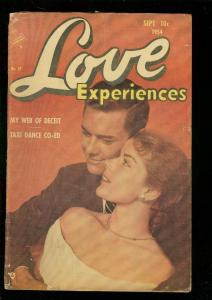 LOVE EXPERIENCES #27 1954-PHOTO COVER-TAXI DANCER-HOT!! G