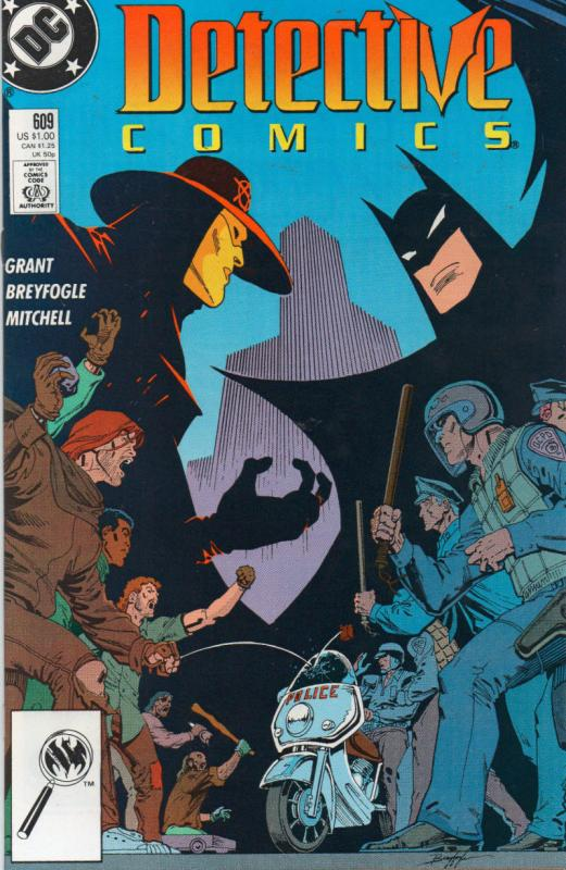DETECTIVE #609, VF/NM, Batman, 2nd Anarchy, 1989, Gotham City, more DC in store