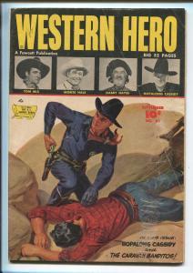 WESTERN HEROES #82 1949-FAWCETT-NORMAN SAUNDERS-HOPALONG CASSIDY-TOM MIX-vg
