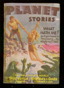 PLANET STORIES-SPG 1946-AC HOLLINGSWORTH INTERIOR ART   VG