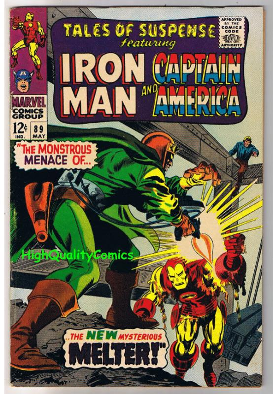 TALES of SUSPENSE #89, VF+, Iron Man, Captain America, 1959, more in store