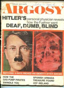 ARGOSY-FEB 1970-NAZI -HITLER DEATH ISSUE-KEY ISSUE-pr/fr