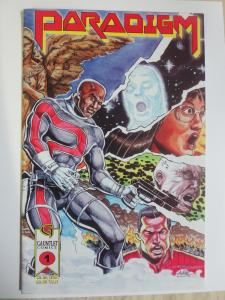 Paradigm #1 (Caliber Gauntlet 1994) Gritty Heroes Georges Jeanty Autographed