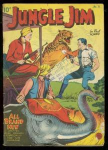 JUNGLE JIM #11 1953-ELEPHANT & TIGER COVER-PAUL NORRIS G/VG