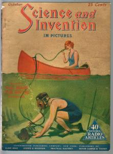 Science & Invention 10/1924-Gernsback-gas mask for diving-Dunninger-FN-