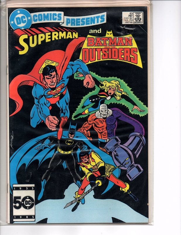 DC Comics Presents #83 Superman and Batman and the Outsiders  VF