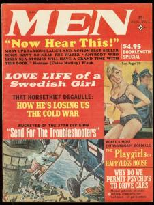MEN MAGAZINE JULY 1965-SWEDISH LOVE LIFE-PLAYGIRLS-WW 2 FN