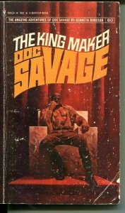 DOC SAVAGE-THE KING MAKER-#80-ROBESON-G-FRED PFEIFFER COVER-1ST EDTION G