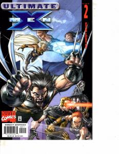Lot Of 4 Ultimate X Men Marvel Comic Books #2 3 4 5 Iron Man  DC1