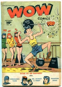 Wow Comics #60 1947- 2nd OZZIE appearance- Commando Yank- G