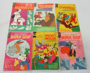 Disney Golden Key comics lot 6 different books (Silver Age)