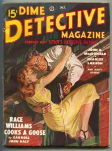 Dime Detective Pulp 10/49- Race Williams Cooks a Goose