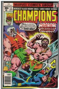 CHAMPIONS 12 VG-F Mar.1977 Hercules, Black Widow, Angel