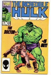 HULK #320, VF, Incredible, Bruce Banner, Milgrom, 1968 1986, Marvel