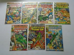 Super-Villain Team-Up lot 7 different from #2-16 avg 5.0 VG FN (1975-79)