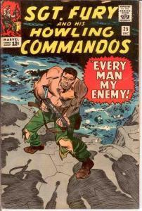 SERGEANT FURY 25 F+    Dec 1965 Red Skull COMICS BOOK
