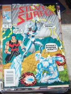 Silver Surfer #85  oct  1993, Marvel)  infinity crusade + thanos  goddess storm