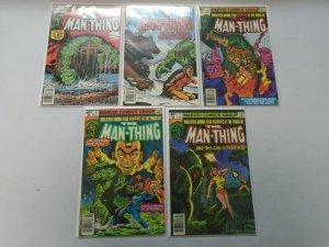 Man-Thing run #1-5 avg 6.0 FN (1979-80 2nd Series)