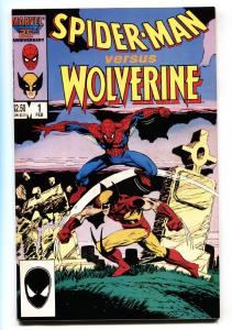 Spider-Man versus Wolverine #1 comic book 1987 Marvel Cross-over High Grade  NM-
