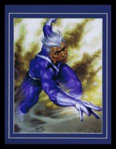 Quicksilver X Men Framed 11x14 Marvel Masterpieces Poster Display