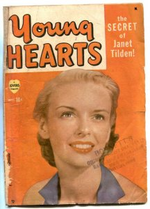 Young Hearts #1 1949- Janet Tilden cover- Marvel romance F/G