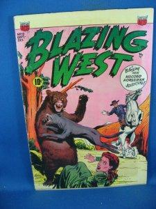 BLAZING WEST 19 F+ HOODED HORSEMAN ACG 1951