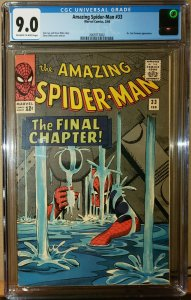Amazing Spider-Man #33 (Marvel 1966) Ditko Cover CGC 9.0 VF/NM High Grade Silver