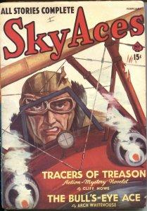 SKY ACES--FEB 1941--AIR WAR PULP FICTION-ARCH WHITEHOUSE--JOE ARCHIBALD-AVIATION