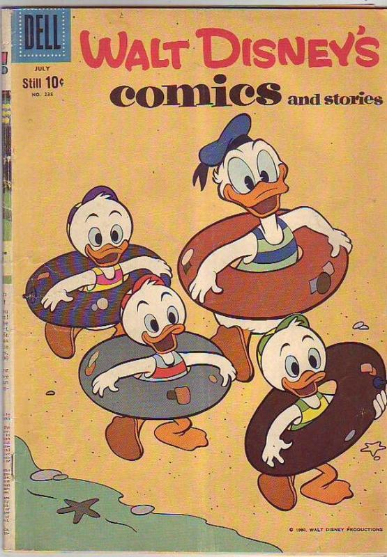 Comics and Stories, Walt Disney's #238 (Jul-60) VG Affordable-Grade Donald Du...