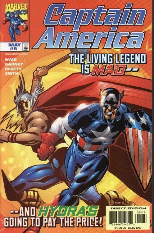 CAPTAIN AMERICA (1998 MARVEL) #5 NM- AGSNZR