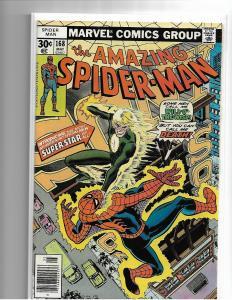 Amazing Spider-Man #168 Marvel 1977 - NM - Will O' The Wisp Len Wein