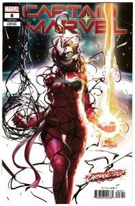 Captain Marvel #8 Carnage-Ized Variant (Marvel, 2019) VF/NM