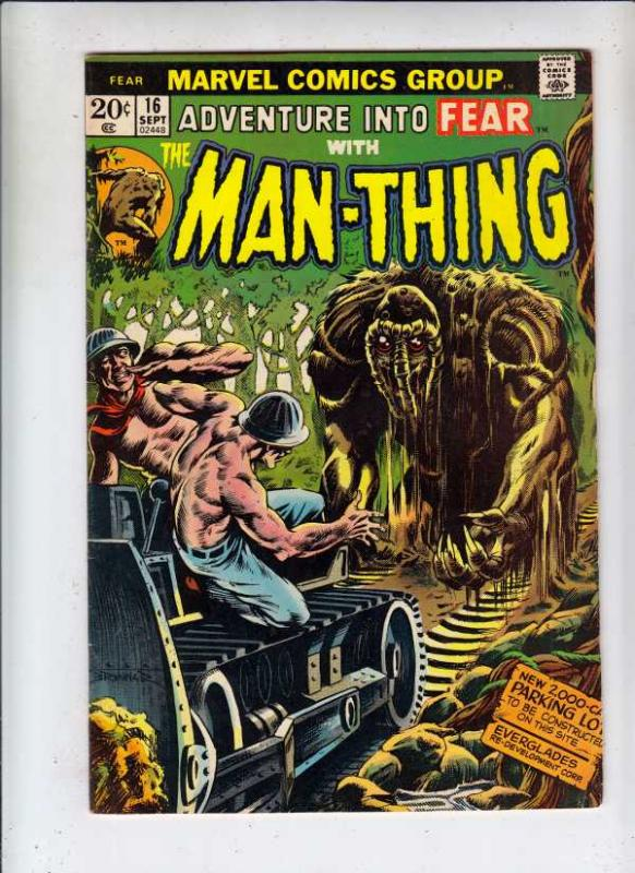Adventures Into Fear #16 (Sep-73) VF High-Grade Man-Thing