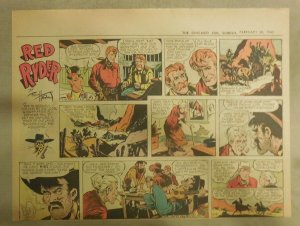 Red Ryder Sunday Page by Fred Harman from 2/28/1943 Half Page Size!