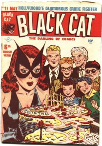 BLACK CAT #11-1948-COMIC & TEXT STORIES-KERRY DRAKE-BIRTHDAY CAKE COVER-LEE ELIA