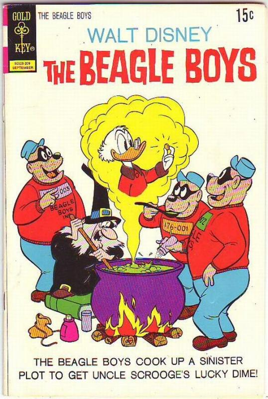 Beagle Boys, Walt Disney's #14 (Sep-72) VG/FN Mid-Grade Uncle Scrooge