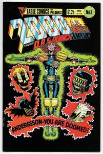 Eagle Comics Presents 2000 AD Monthly #2 Alan Grant (1986)
